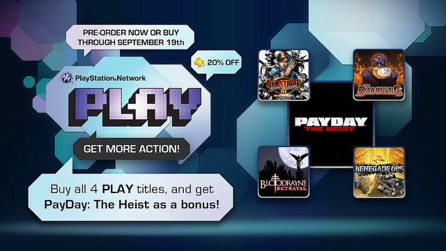 PSN PLAY: juegos de acción con bonus especiales