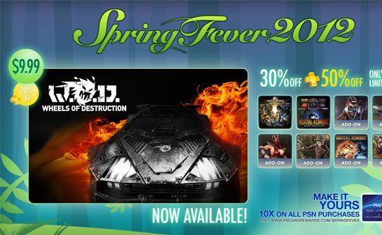 La Fiebre de la Primavera continúa esta semana con Wheels of Destruction y descuentos en Mortal Kombat