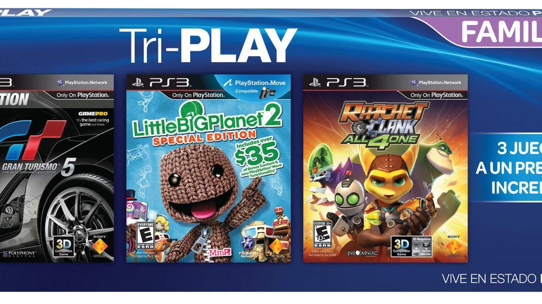 E3 2012: Tri-PLAY: Los mejores títulos a un súper precio.