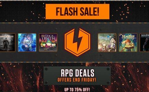 Oferta relámpago, hasta 75% de descuento en RPGs
