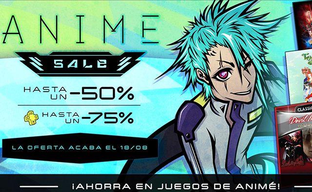 Anime Sale, juegos con grandes descuentos.