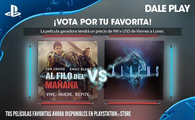 Vota por tu favorita:  Al Filo del Mañana   X Aliens