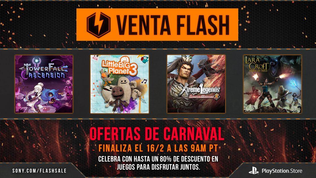 Venta Flash Ahora: Ofertas de Carnaval en Juegos Multijugador