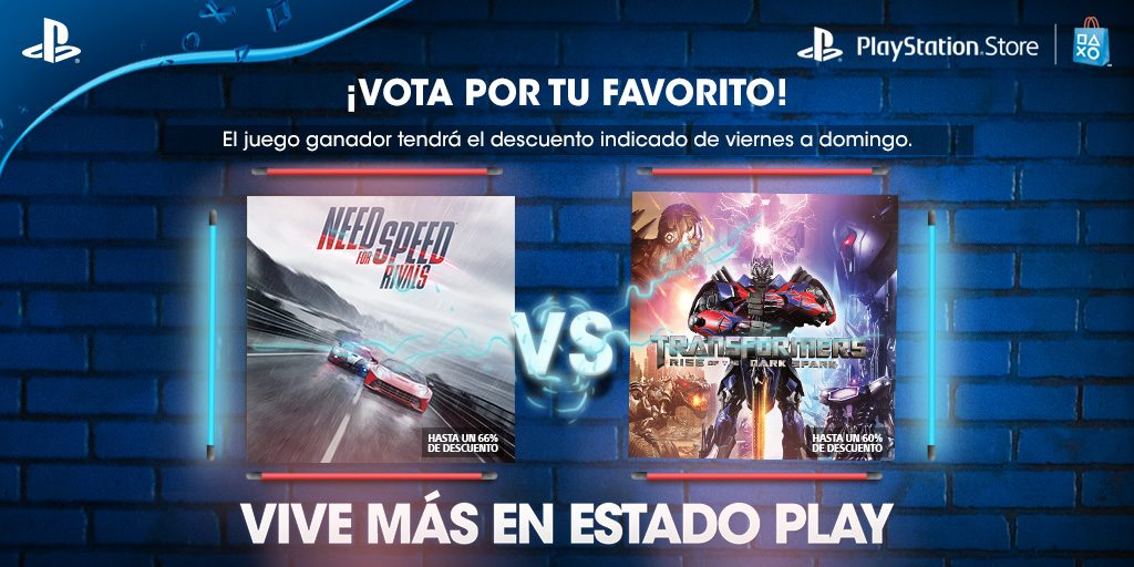 Vota Por Tu Favorito: Need for Speed Rivals: Complete Edition o Transformers: Rise of the Dark Spark
