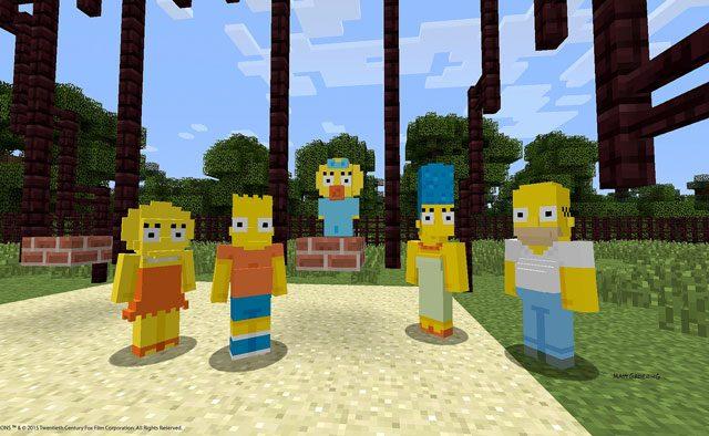 Los Simpson llegan a Minecraft para PlayStation