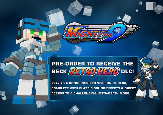 Mighty No. 9: detalles de venta, Cross-Buy, pre-orden para modo Retro Hero