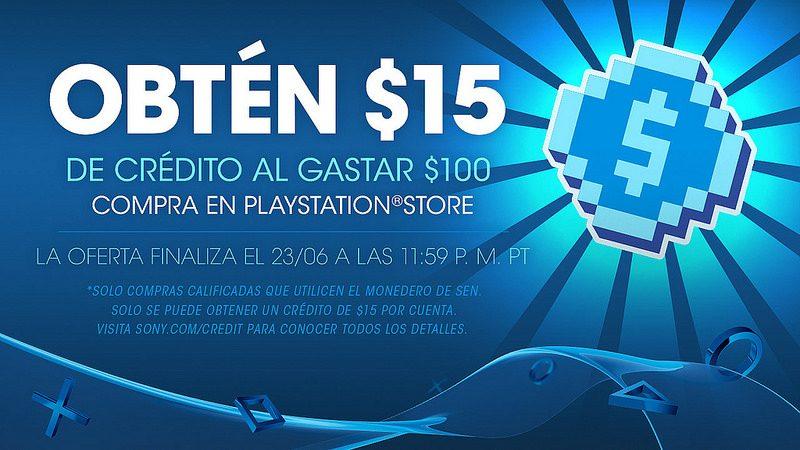 Promoción PlayStation México: ¡Obtén $15 dólares cuando usas $100 en compras!