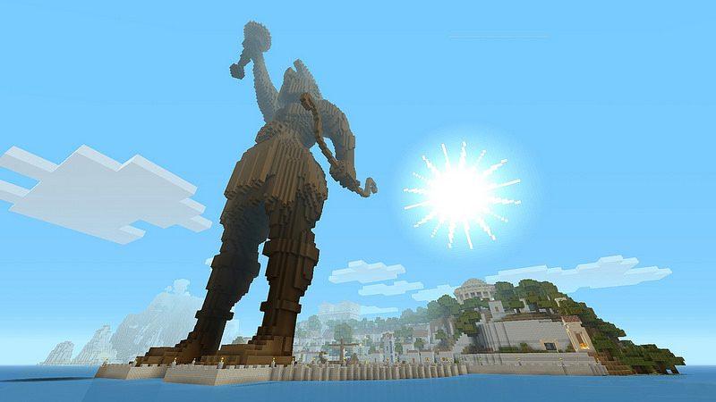 Paquete Mash-Up de la mitología griega para Minecraft disponible hoy