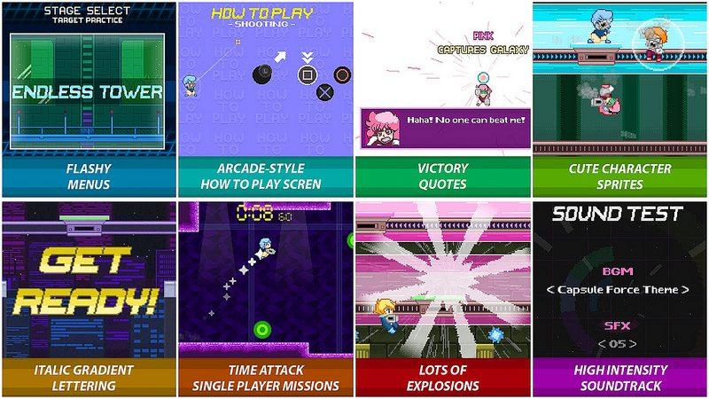 Capsule Force: Un juego de salón de los años 90 en un mundo anime de los 80