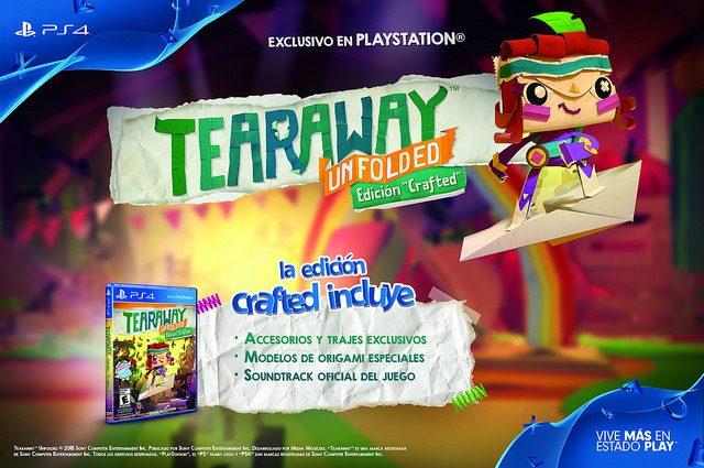 Ya Puedes Reservar Tearaway Unfolded Edición Crafted para PS4