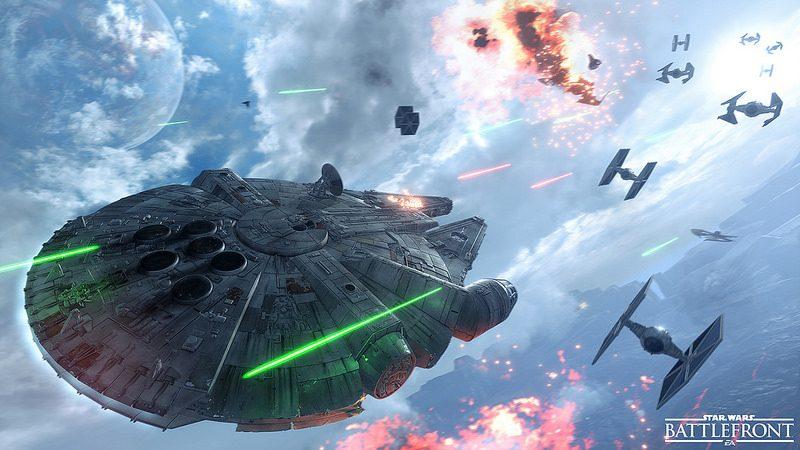 Star Wars Battlefront: Piloteando Slave I y Millennium Falcon