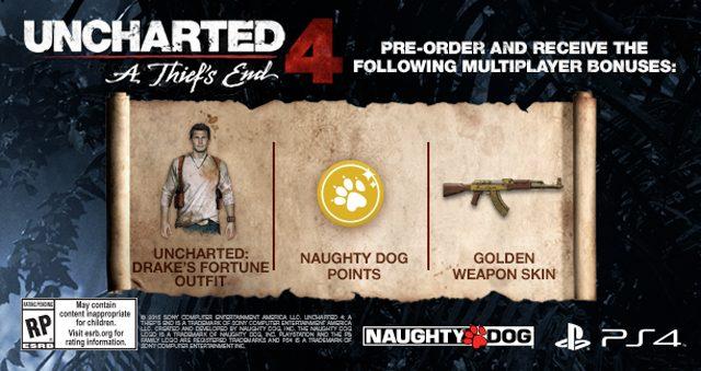 Pre-ordena Uncharted 4 y obtén un DLC exclusivo