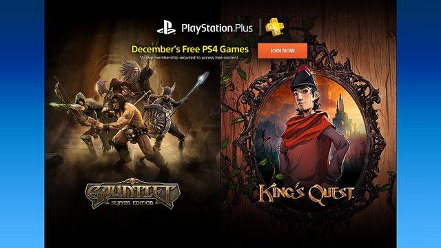 PS Plus: Juegos Gratis para Diciembre de 2015