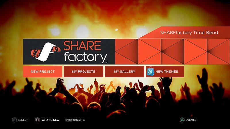Actualización de SHAREfactory: Cámara lenta, fotografía secuencial (Time Lapse), y más