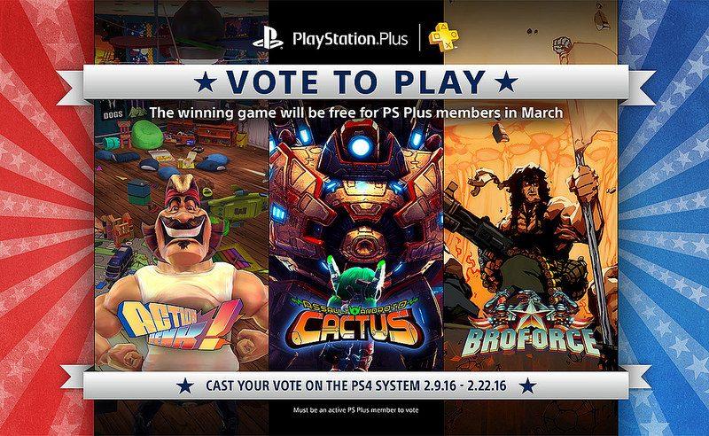 Vote to Play Marzo 2016:  Las Votaciones Comienzan el 9 de Febrero