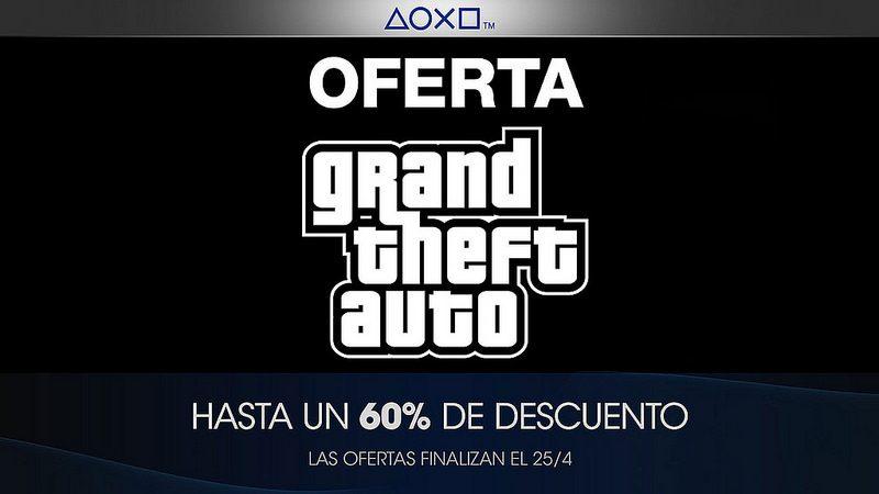 Oferta de Grand Theft Auto en PlayStation Store