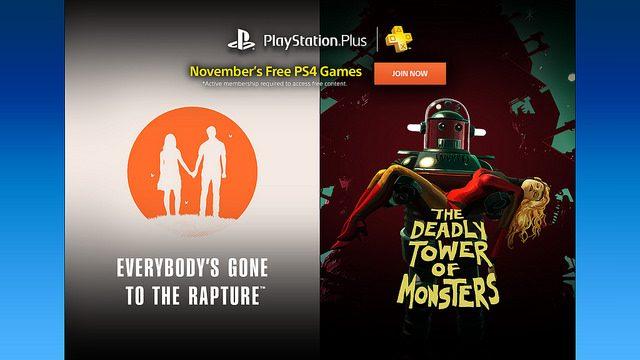 PS Plus: Juegos gratis para noviembre de 2016