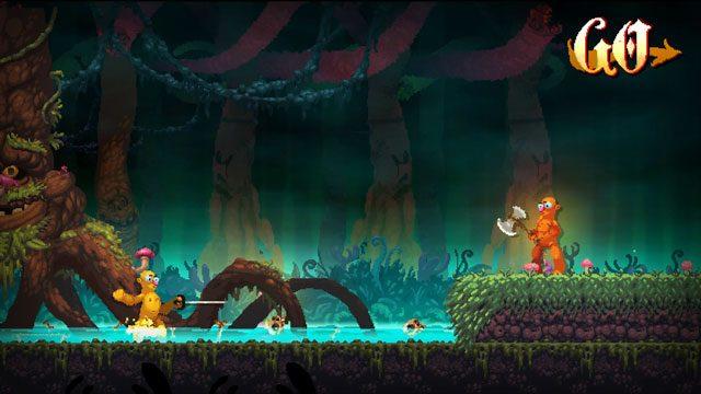 Grotescas, disparatadas y abundantes batallas en Nidhogg 2, disponible el otro año en PS4