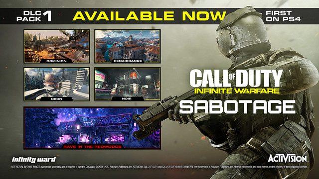 Sabotage, primer DLC de Call of Duty: Infinite Warfare, disponible desde hoy en PS4