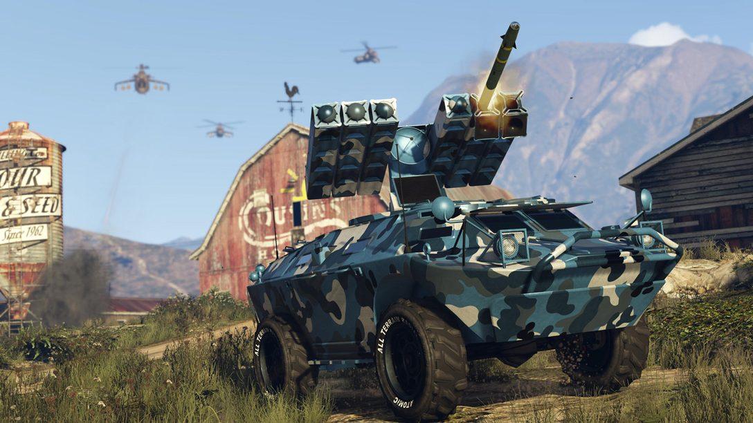La actualización más reciente de GTA Online, Gunrunning, llega el 13 de junio