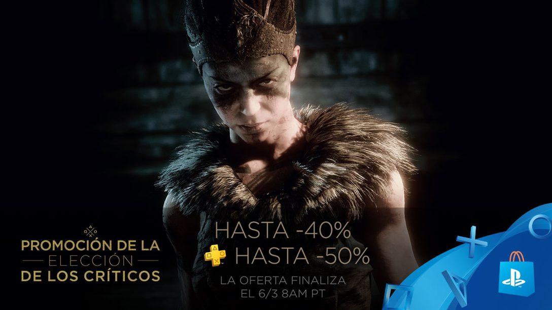 ¡Juegos Aclamados por la Crítica con hasta 40% de Descuento en PS Store!
