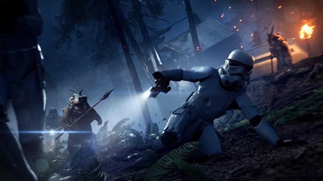 Actualización de Star Wars Battlefront II Night on Endor: Modo Ewok Hunt
