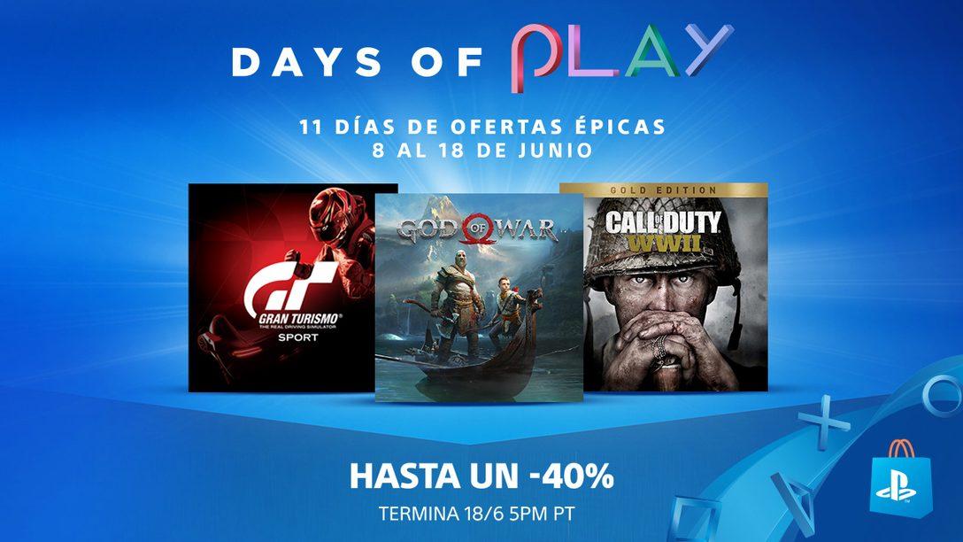 La Promoción Days of Play Empieza Hoy