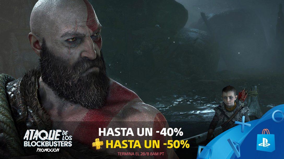 ¡Con La Promoción Ataque de los Blockbusters Ahorran Hasta 40% en Juegos de Gran Nombre!