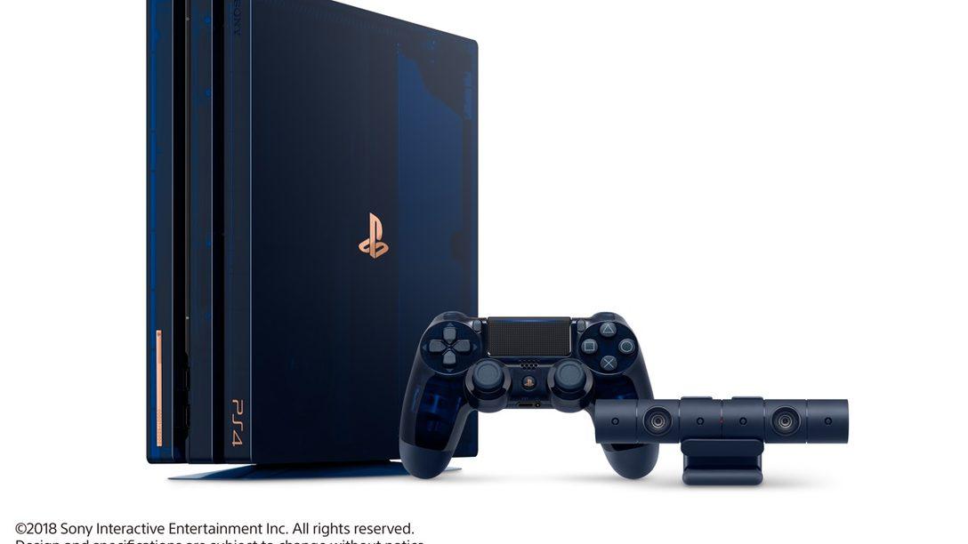 Presentamos la 500 Million Limited Edition PS4 Pro que Conmemora el Hito de los 500 Millones.