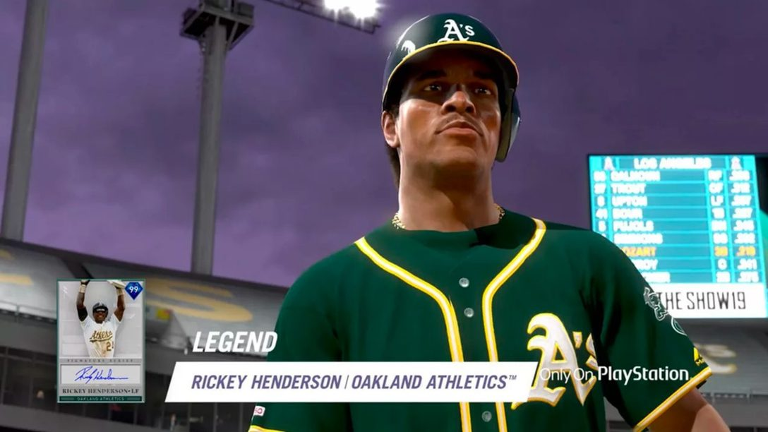 La Leyenda Rickey Henderson Lidera Diamond Bosses en MLB The Show 19