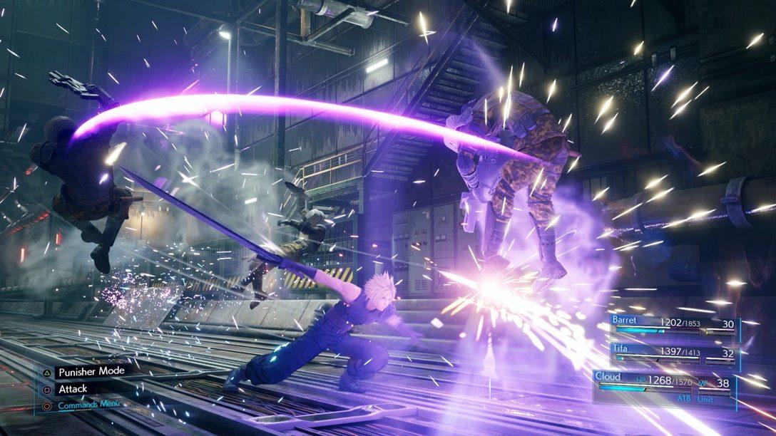 Nuevas Imágenes de Final Fantasy VII Remake Presentan a Cloud, el Combate y Más