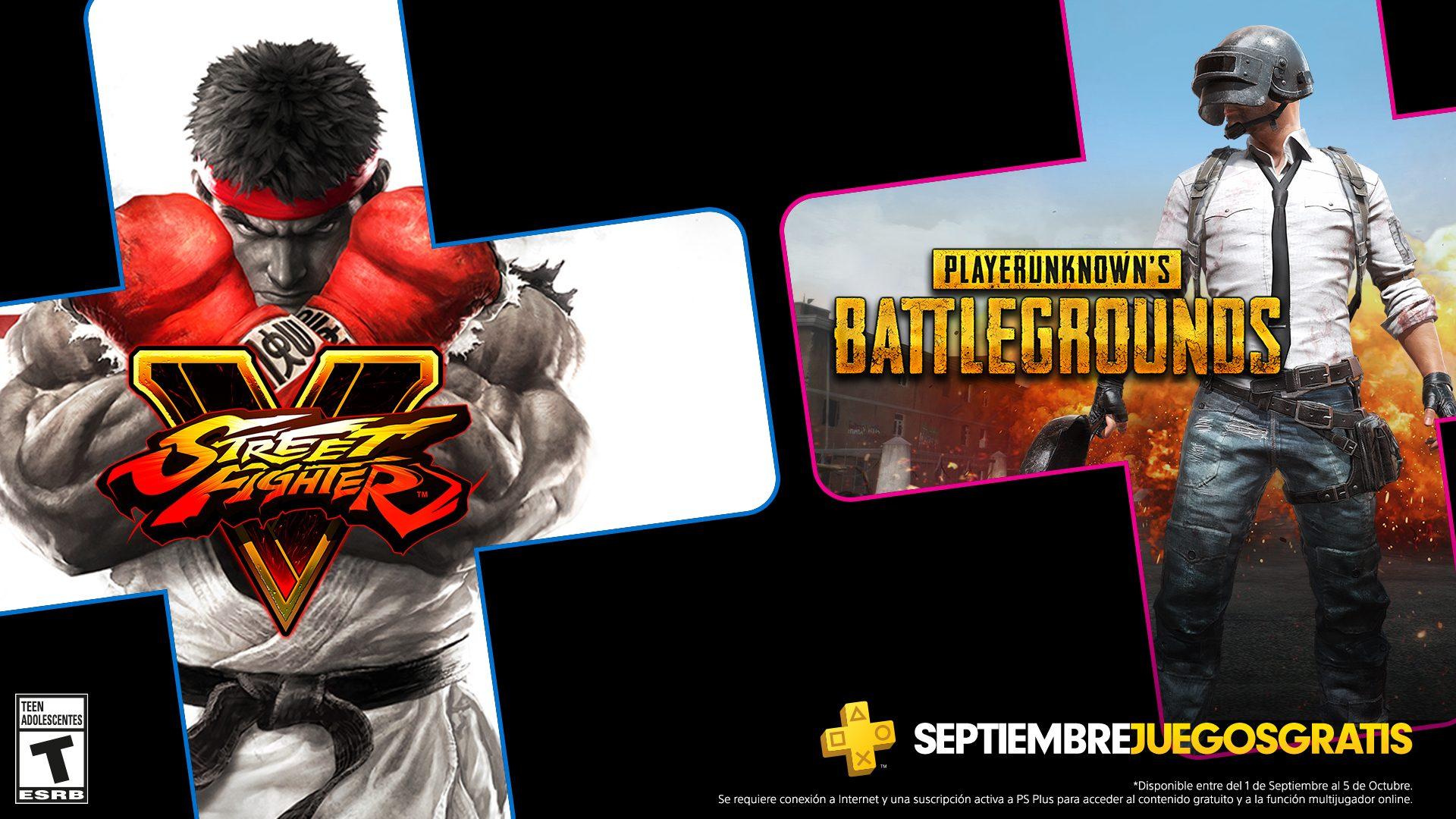 Los Juegos De Ps Plus Para Septiembre Son Pubg Y Street Fighter V Playstation Blog Latam