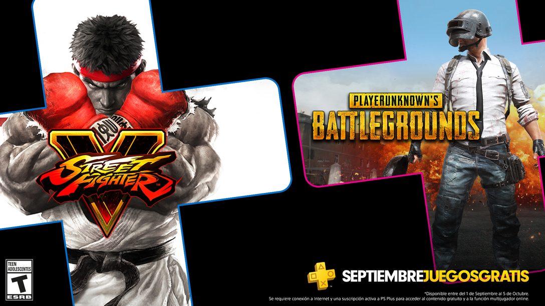 Los juegos de PS Plus para septiembre son PUBG y Street Fighter V