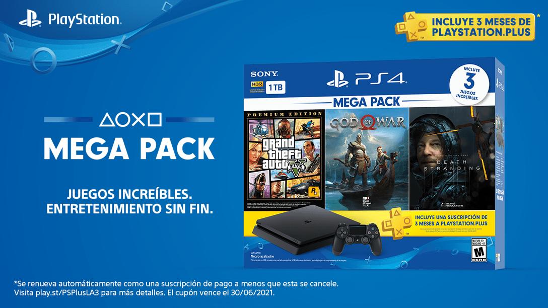 El nuevo Mega Pack de PlayStation 4 empezará a llegar a las tiendas en agosto
