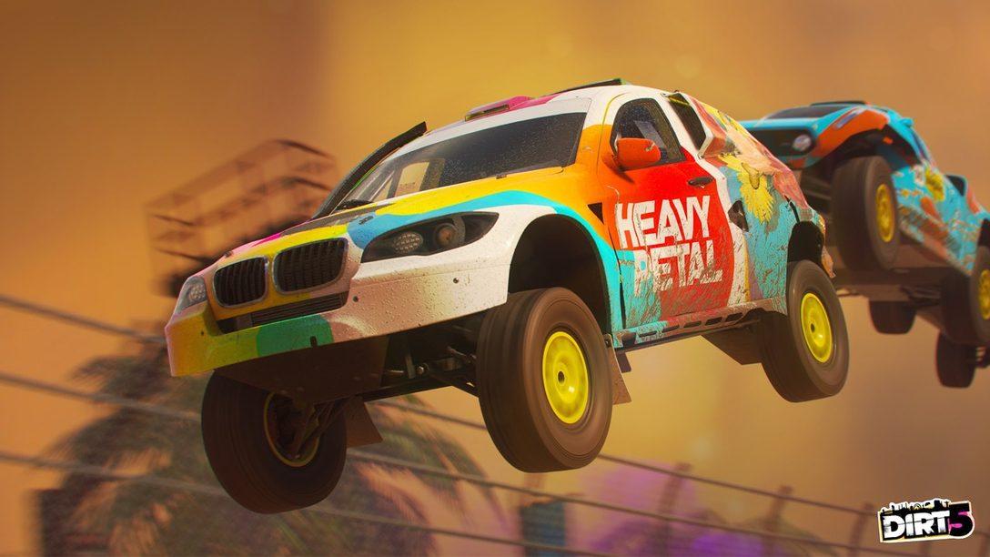Detalles del multijugador online de Dirt 5, incluyendo modos Party.