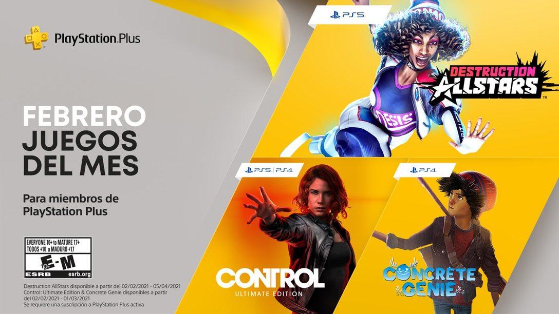 Destruction AllStars, Control: Ultimate Edition y Concrete Genie son tus juegos de PlayStation Plus de febrero