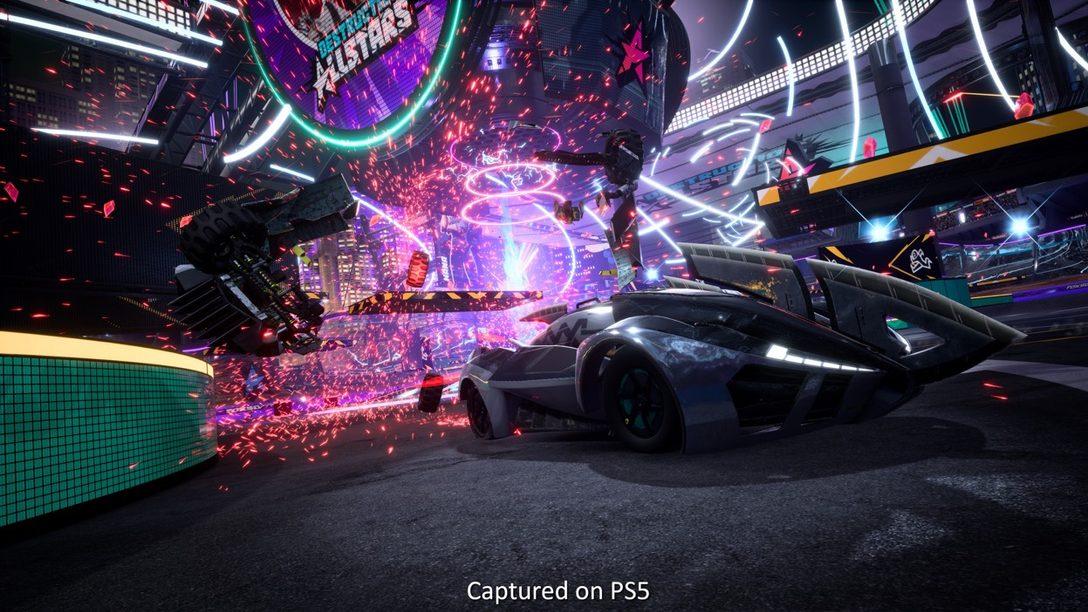 Entrevista de Destruction AllStars: los secretos de la tecnología de PS5 que dieron vida al título de peleas de vehículos
