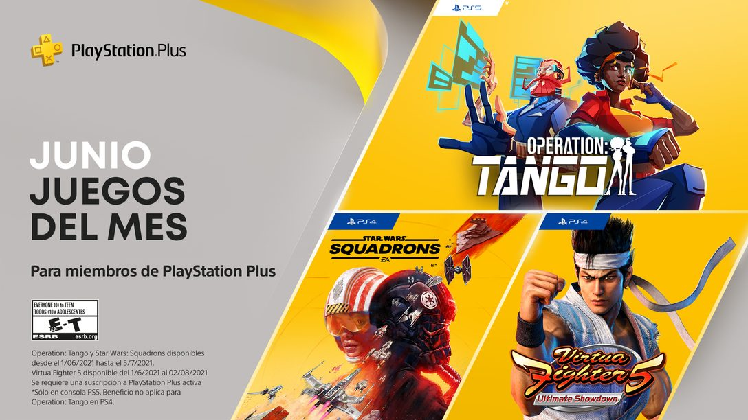Juegos de PlayStation Plus para junio: Operation: Tango, Virtua Fighter 5: Ultimate Showdown, Star Wars: Squadrons