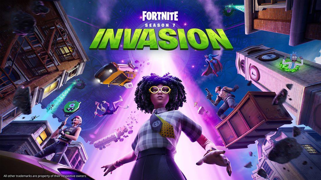 El caos cósmico desciende sobre Fortnite en el Capítulo 2 de la Temporada 7: Invasión