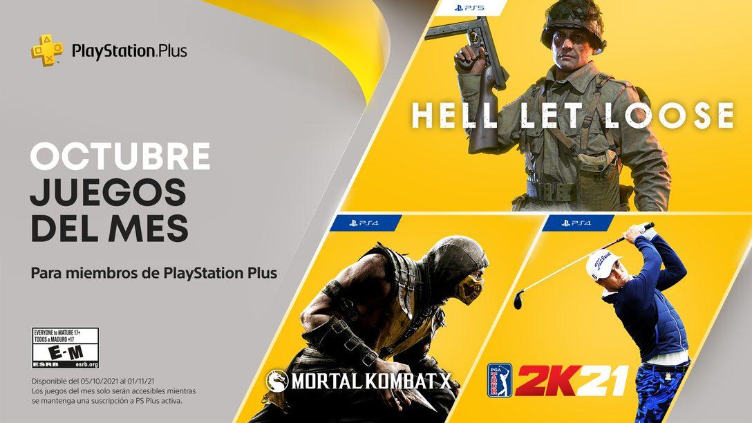 Juegos de PlayStation Plus para octubre: Hell Let Loose, PGA Tour 2K21, Mortal Kombat X